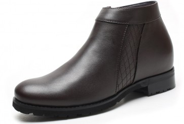 7.5cm Windsor - Height Increase Boots Dark Brown Leather