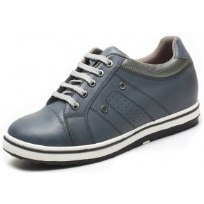 7cm Apollo - Height Increase Elevator Trainers Grey Shoes