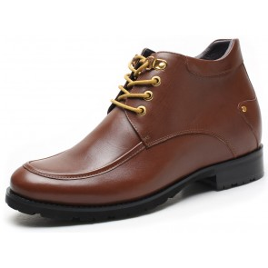 7.5cm Bronx - Height Increasing Boots Brown Leather